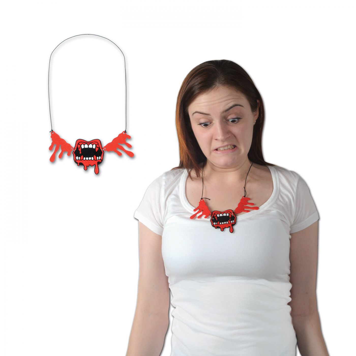 Image of Bloody Fangs Necklace