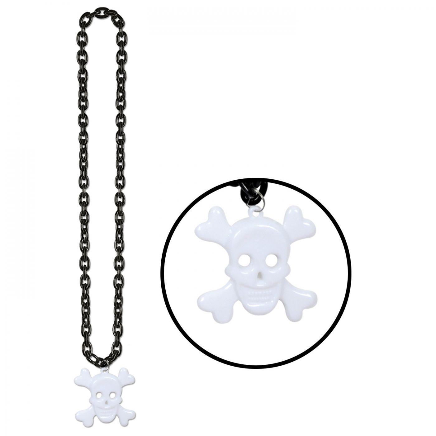 Chain Beads w/Skull & Crossbones Medal image