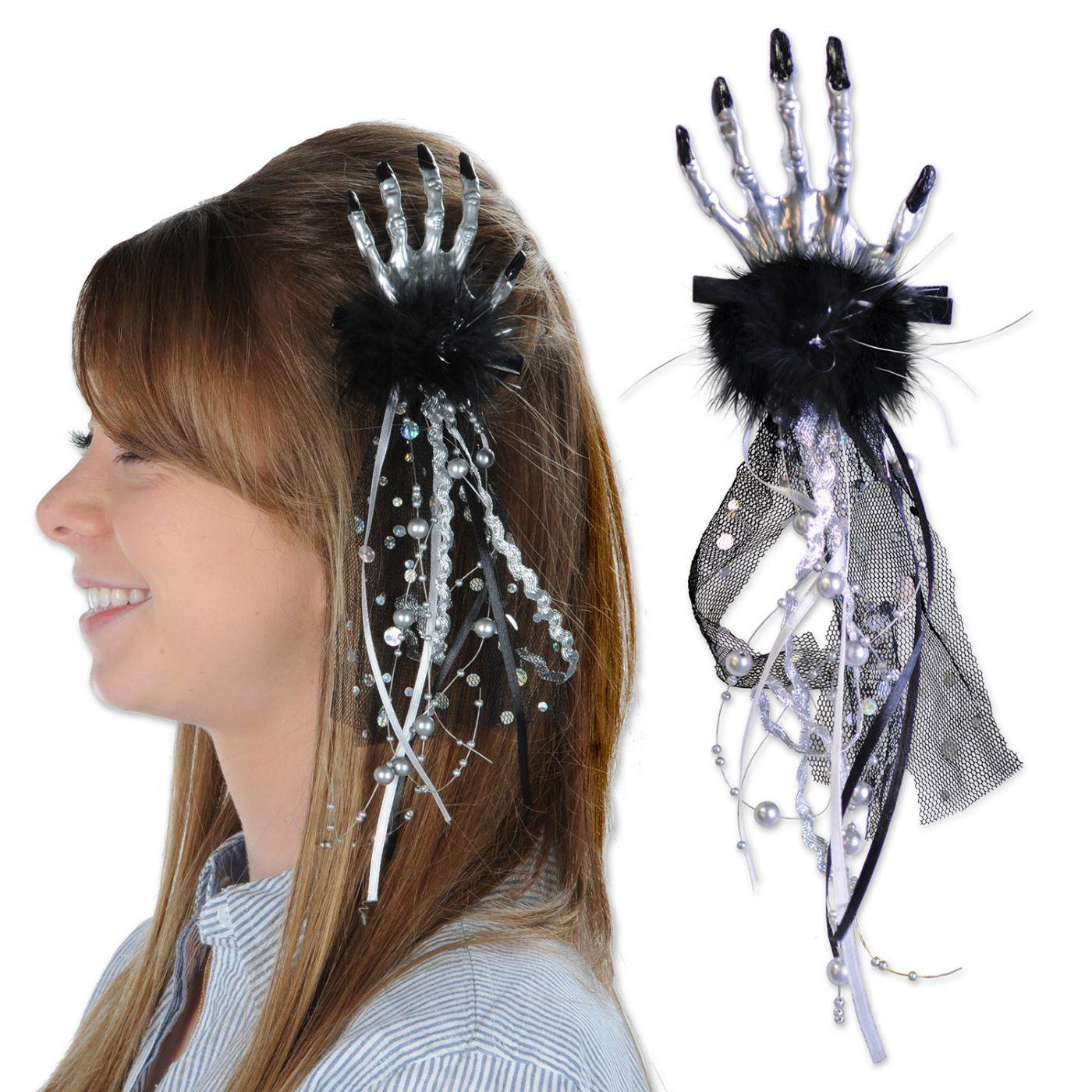 Skeleton Hand Hair Clip image