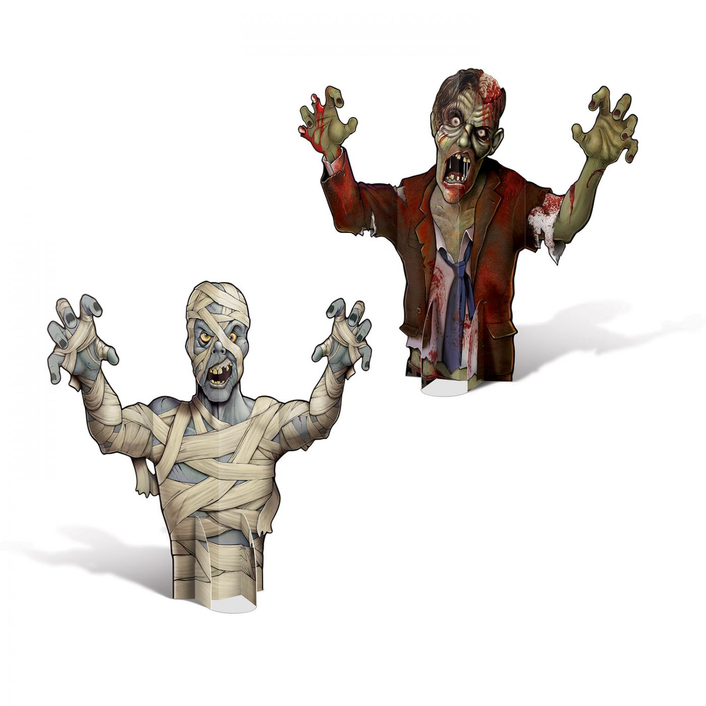 Image of 3-D Mummy & Zombie Centerpieces