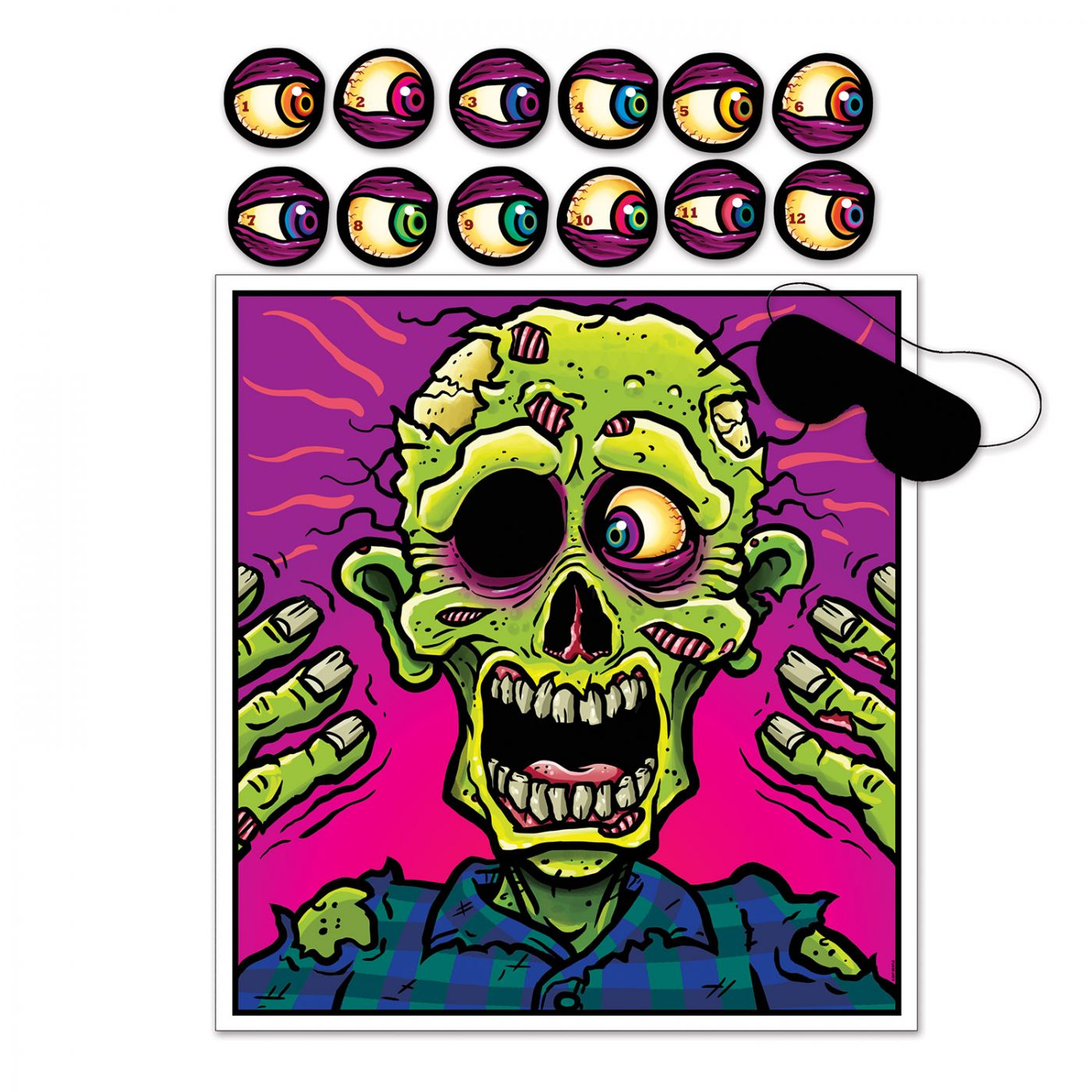 Pin The Eyeball On The Zombie Game (24) image