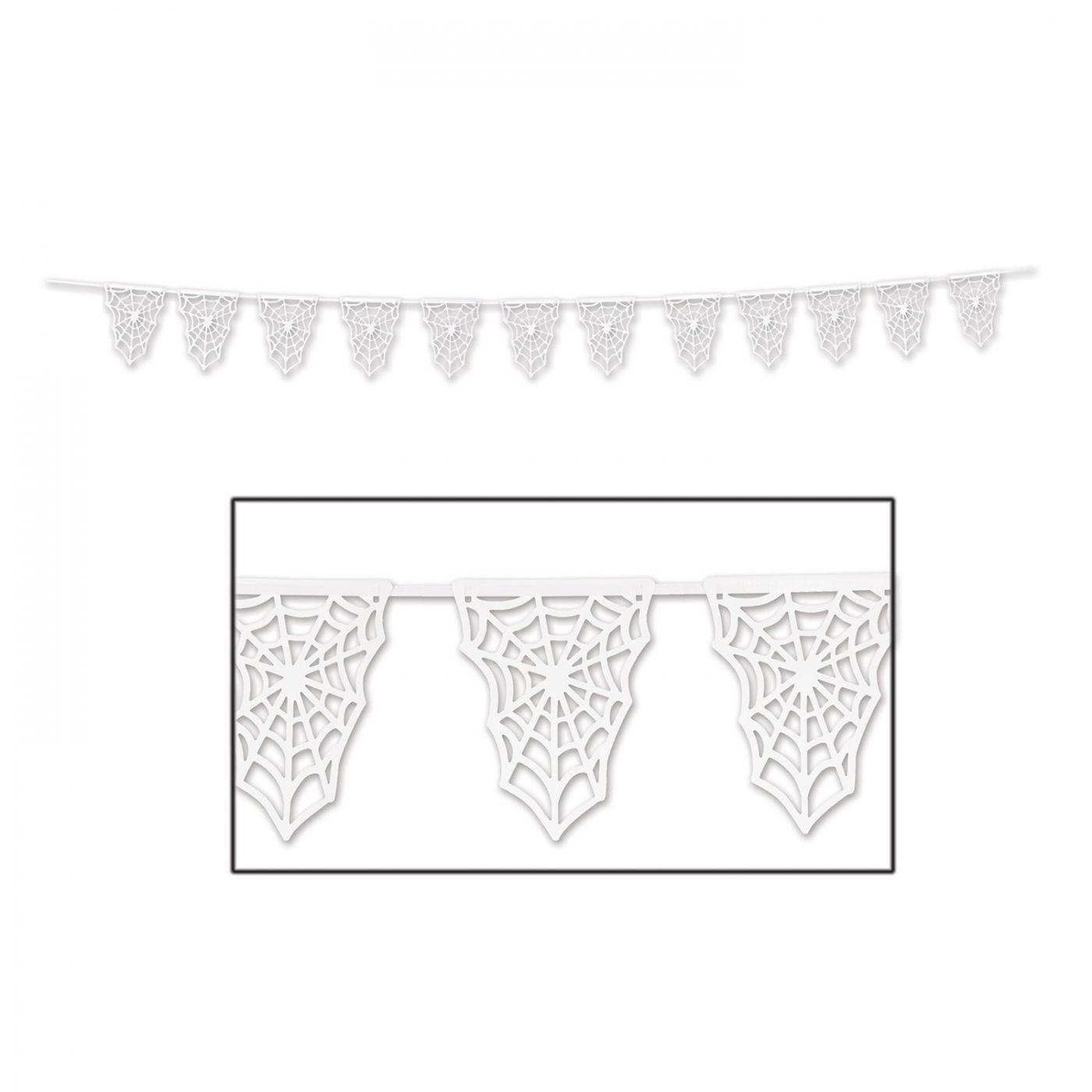 Die-Cut Spider Web Pennant Banner image