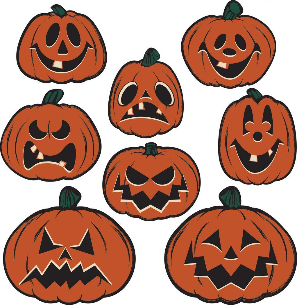 Vintage Halloween Pumpkin Cutouts image