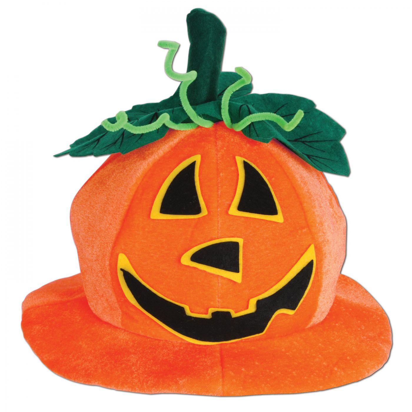 Plush Jack-O-Lantern Hat image