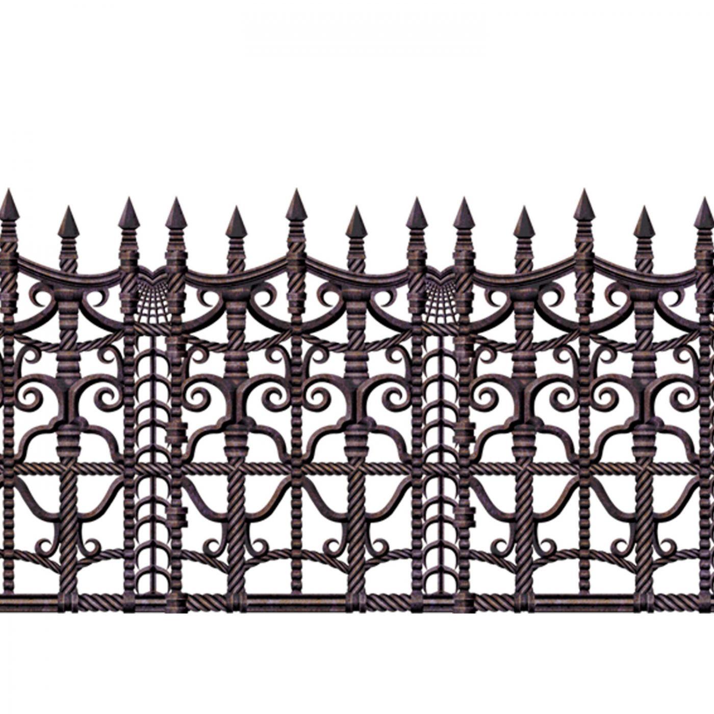 Creepy Fence Border (6) image