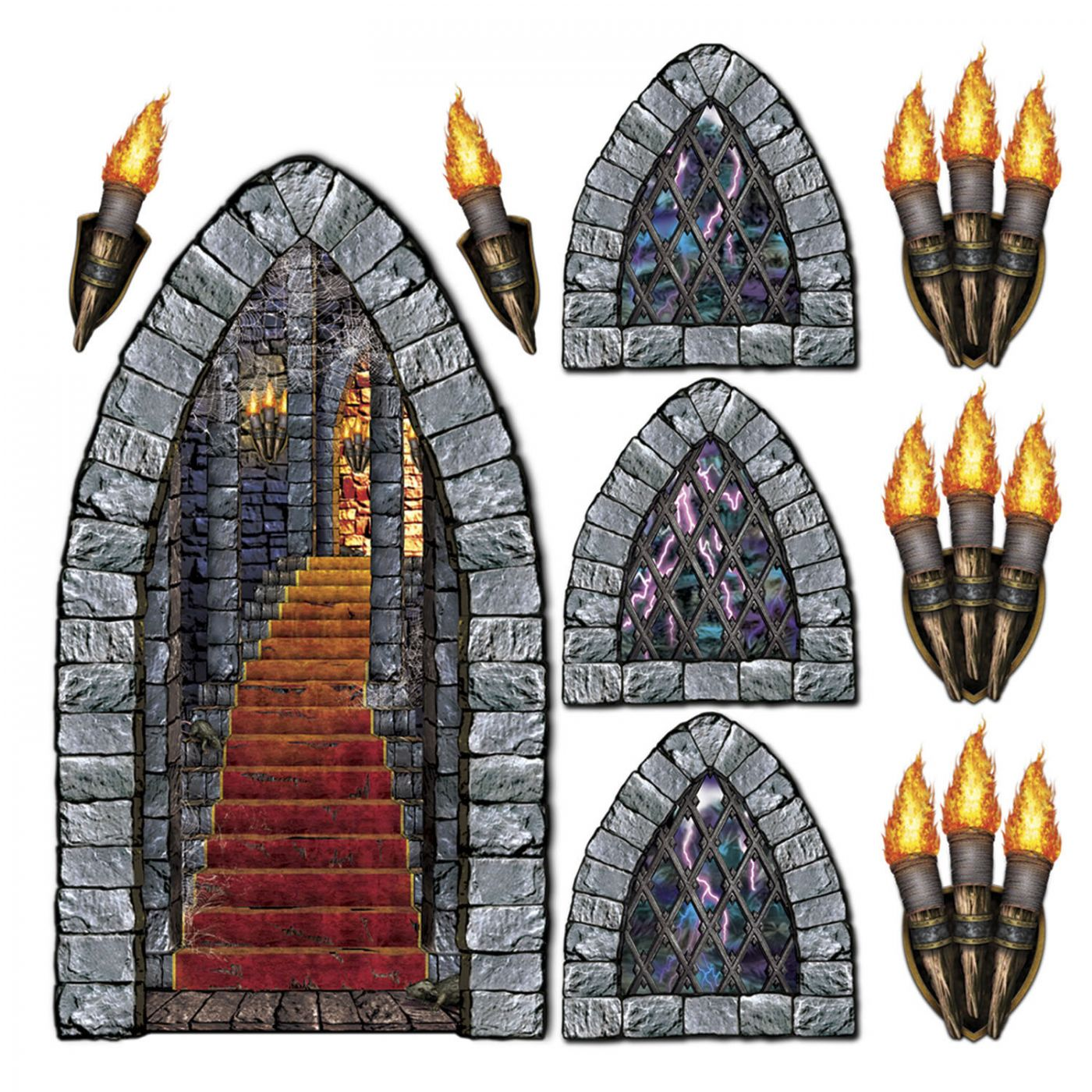 Stairway, Window & Torch Props image