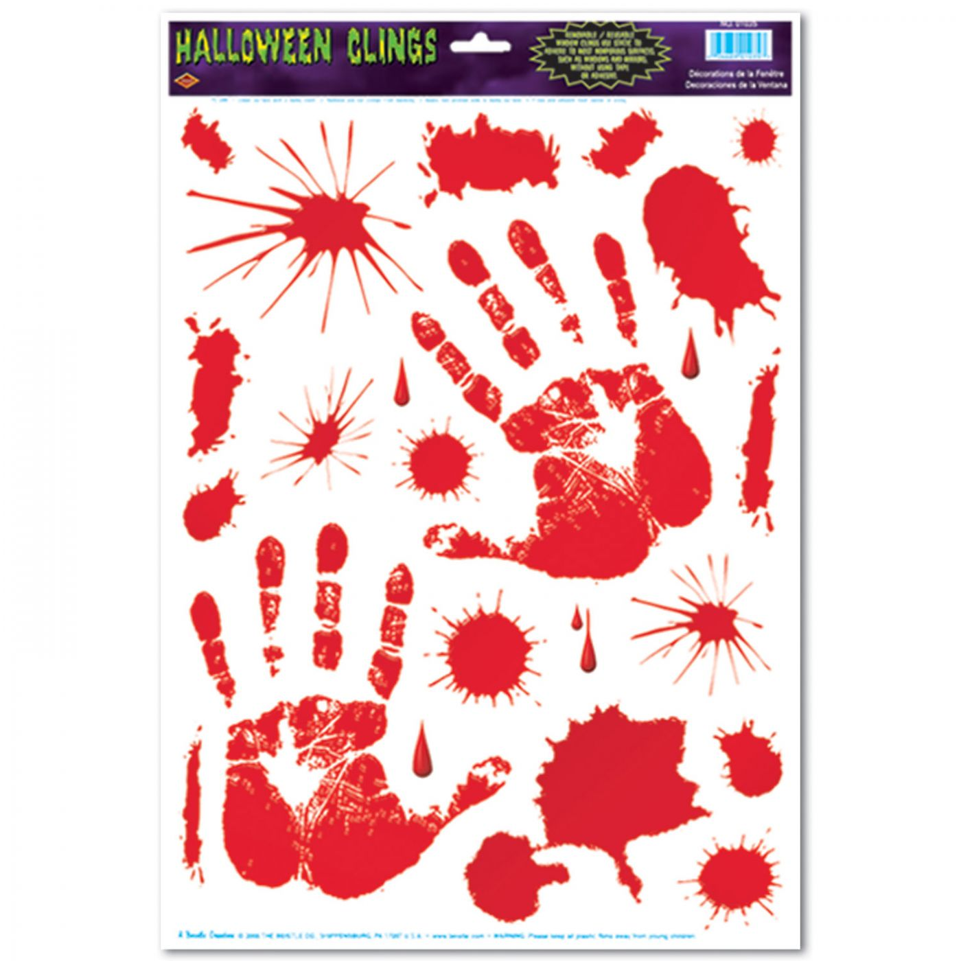 Bloody Handprint Clings image