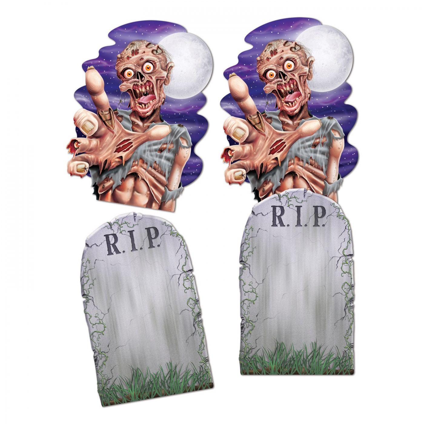 Jumbo Tombstone & Zombie Cutouts image