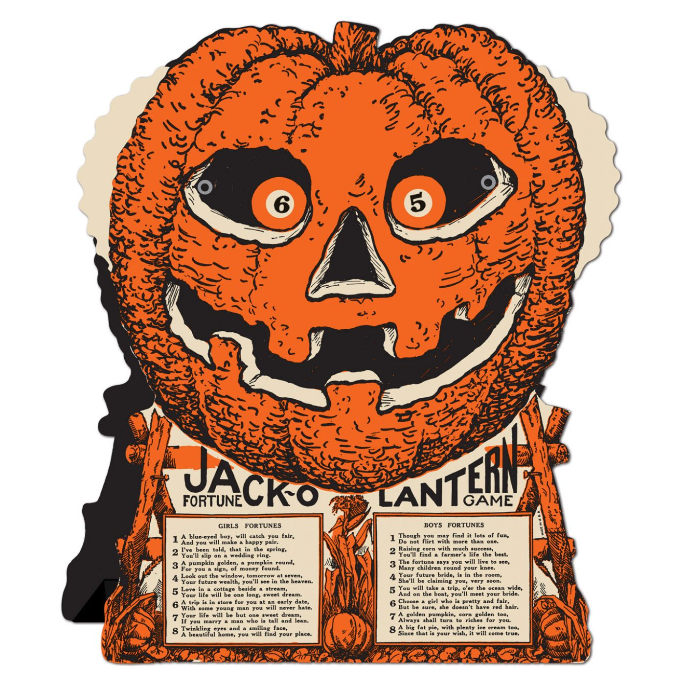 Vintage Halloween J-O-L Fortune Wheel Game image