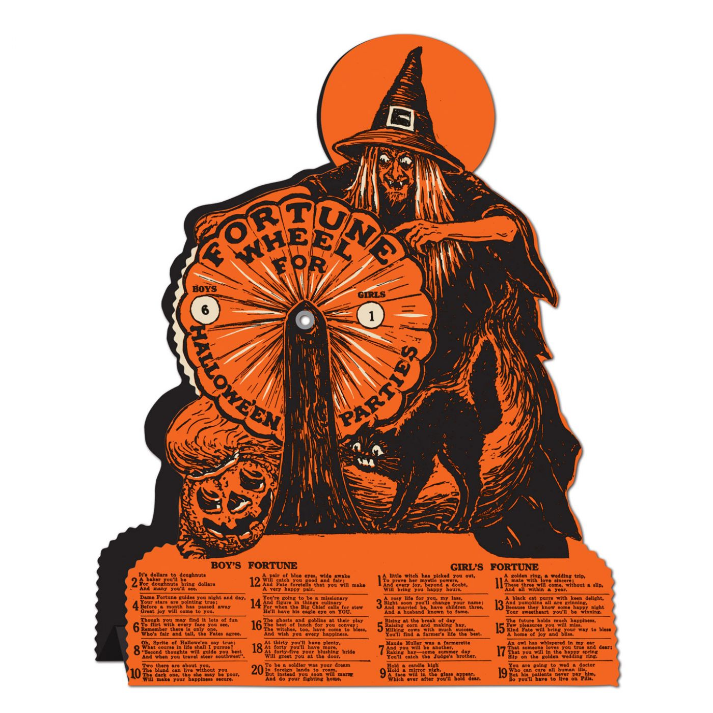Vintage Halloween Witch Fortune Wheel Game image