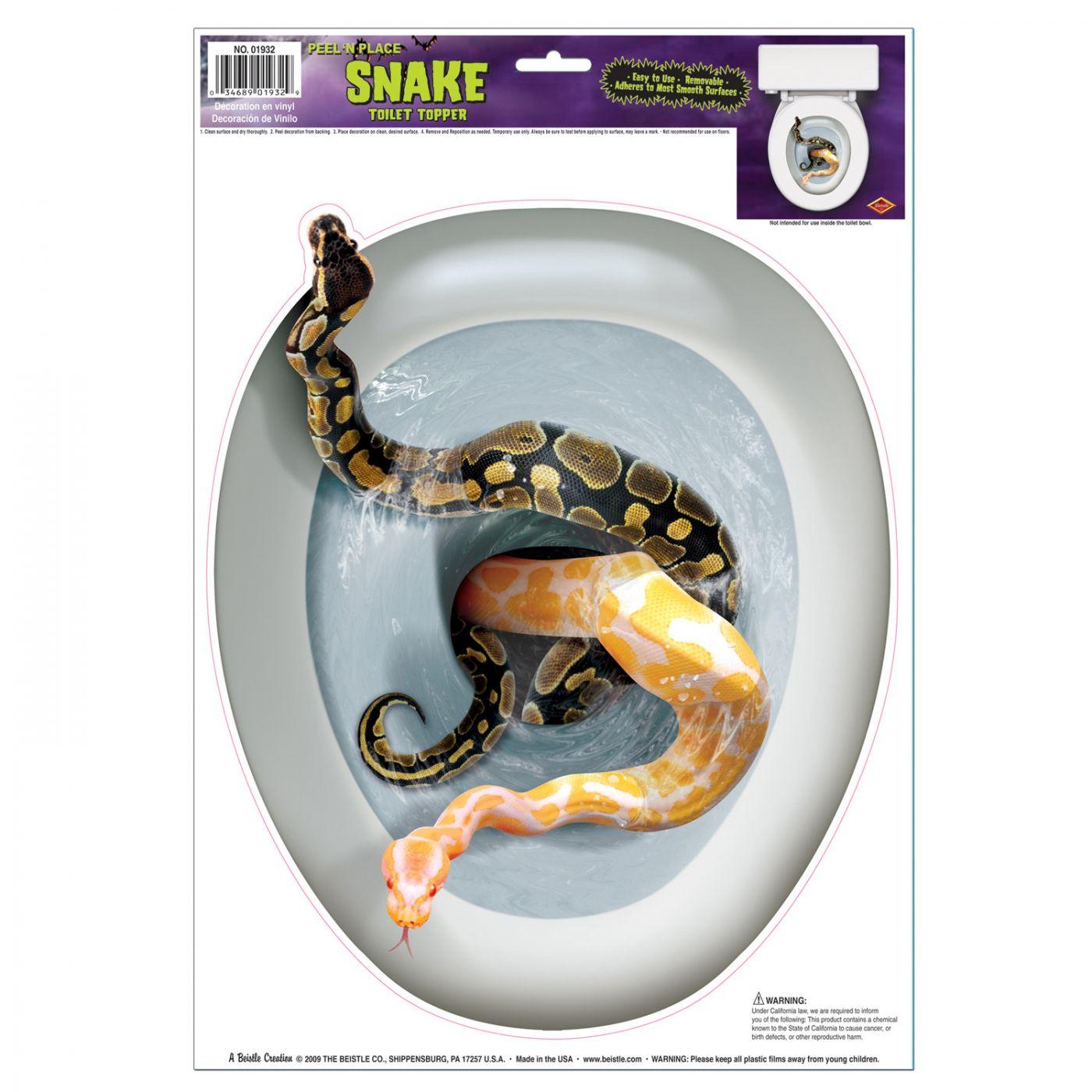 Snake Toilet Topper Peel 'N Place image