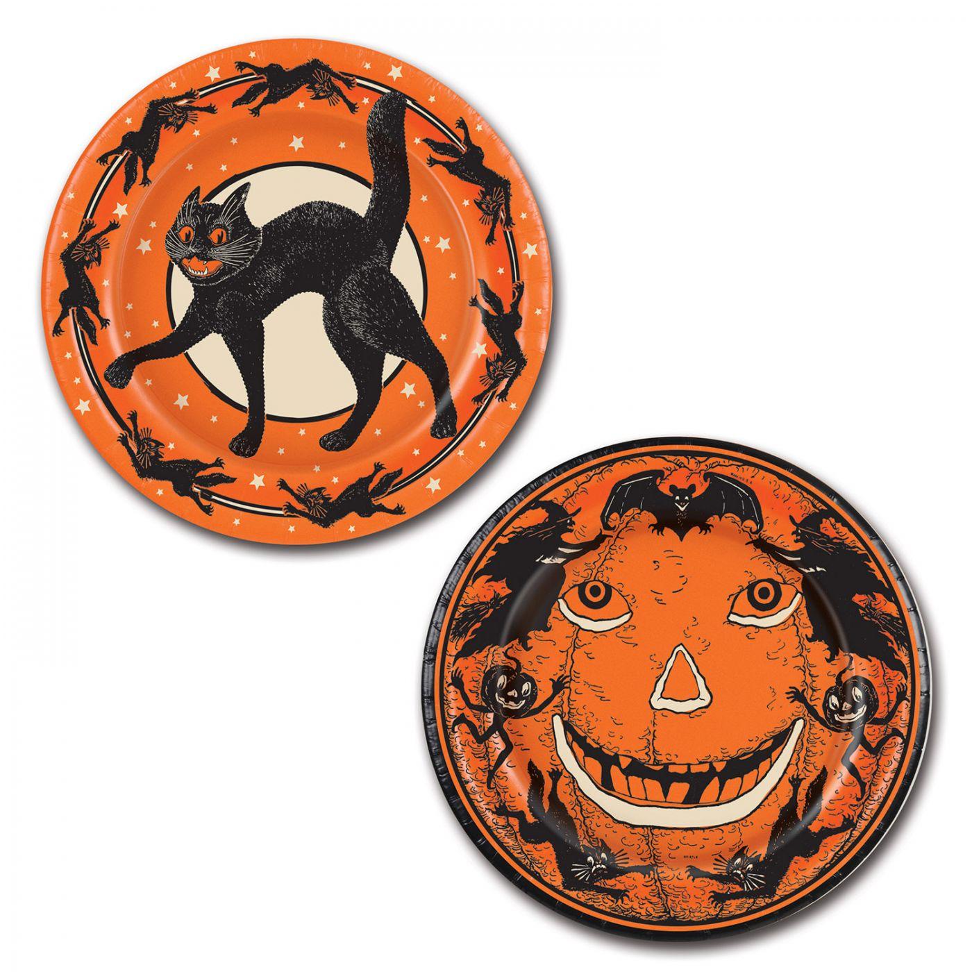 Vintage Halloween Plates image