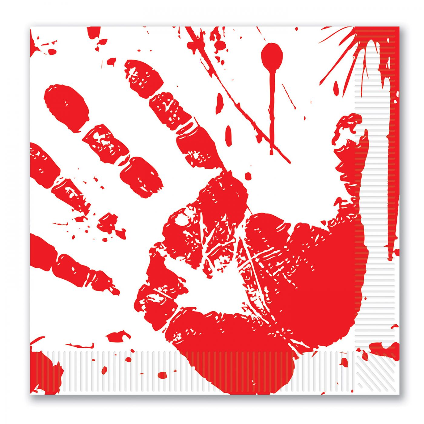 Image of Bloody Handprints Luncheon Napkins