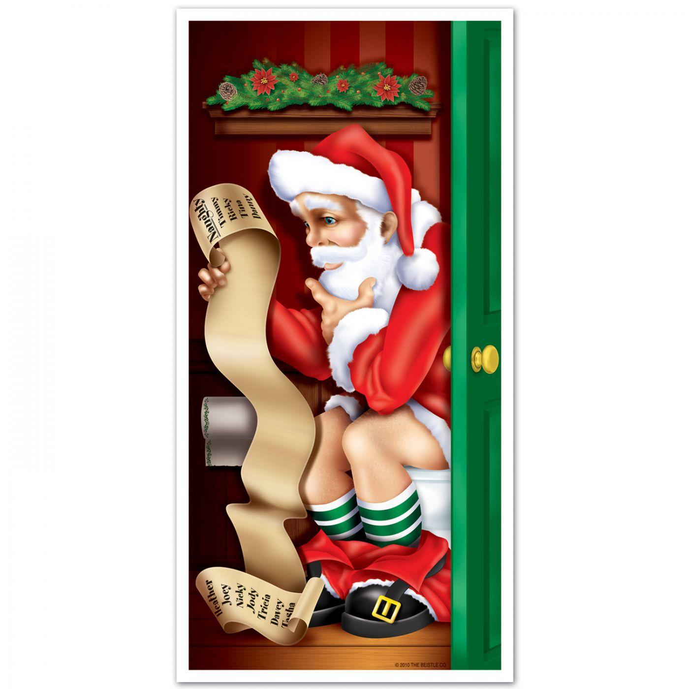 Santa Restroom Door Cover image