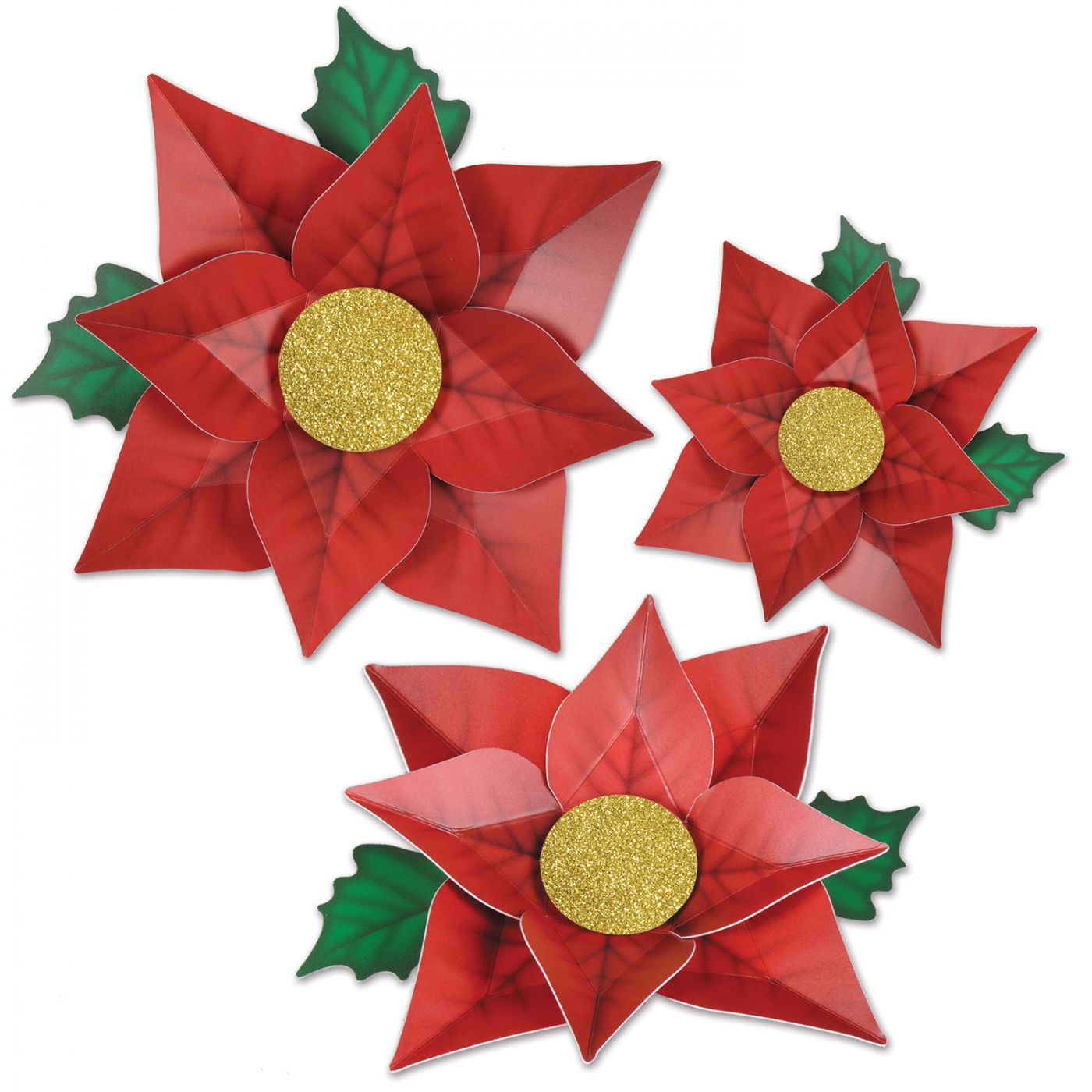 Poinsettia Paper Flowers image