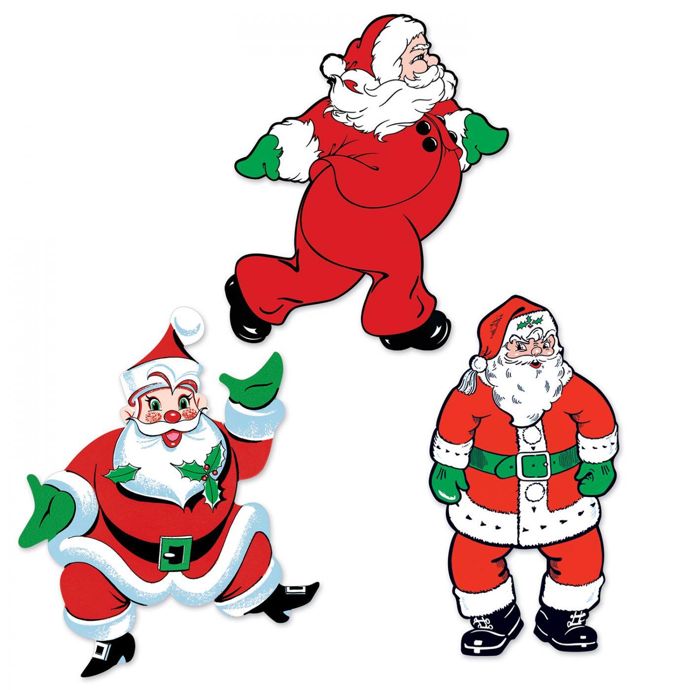 Vintage Christmas Santa Cutouts image