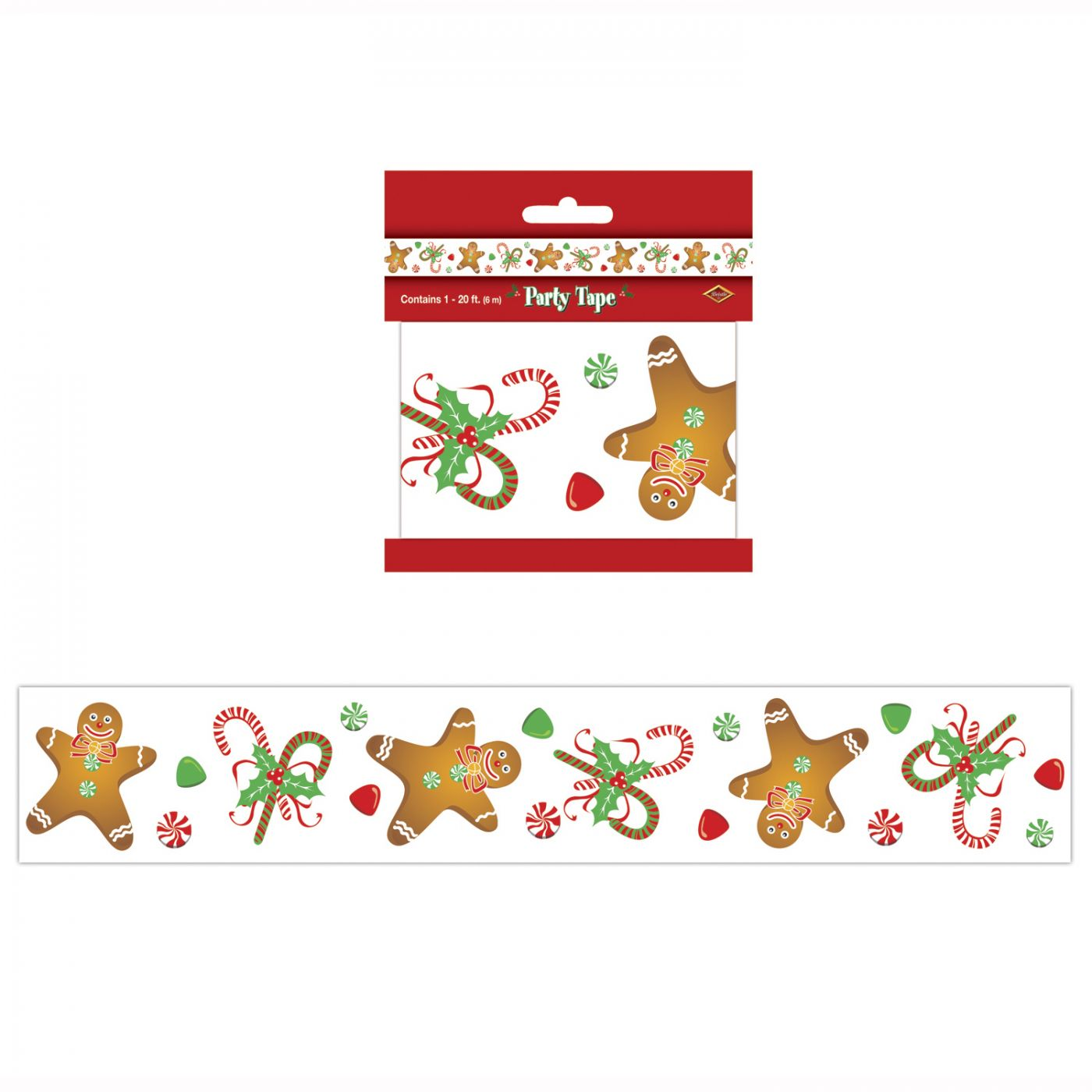 Gingerbread Man Party Tape image