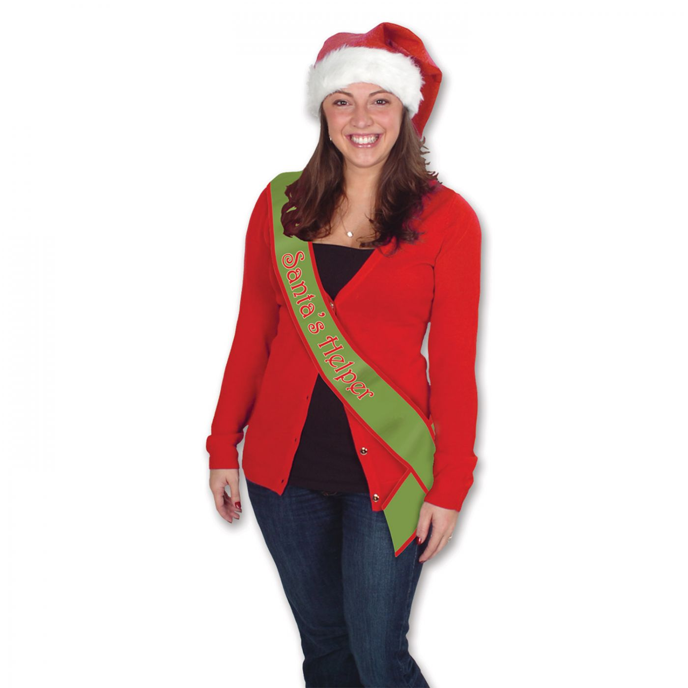 Santa's Helper Satin Sash (6) image