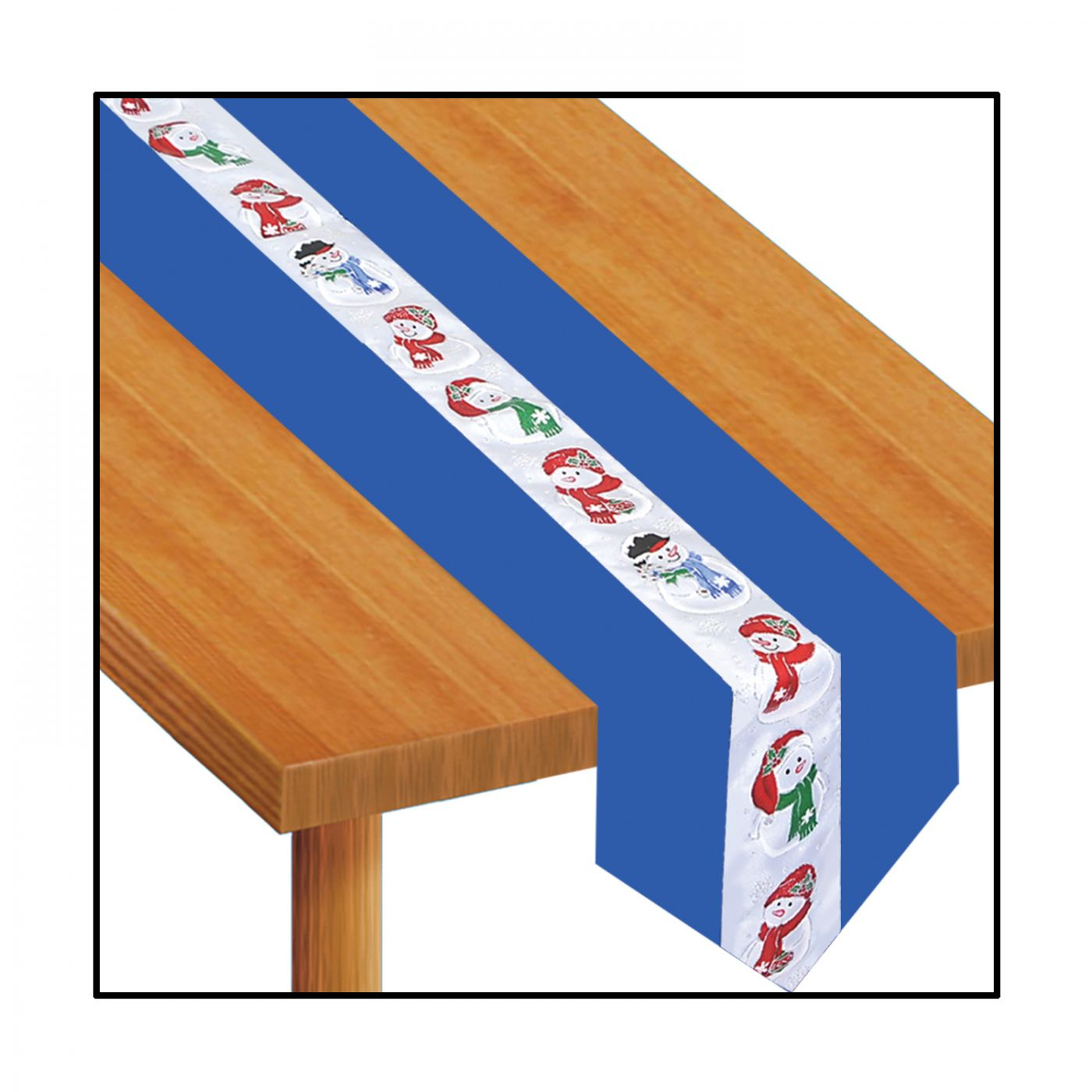 Snowman Fabric Table Runner (6) image