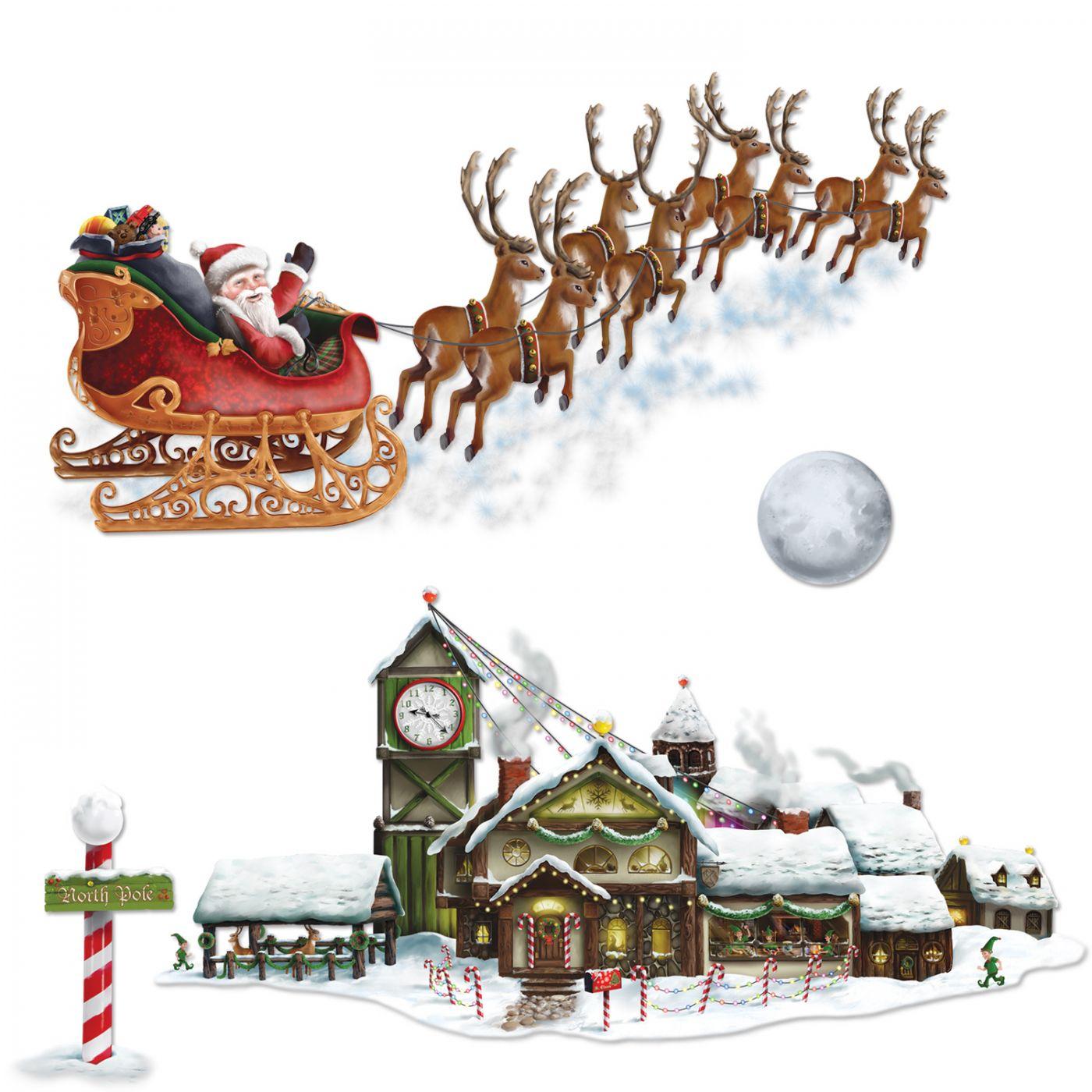 Santa's Sleigh & Workshop Props image
