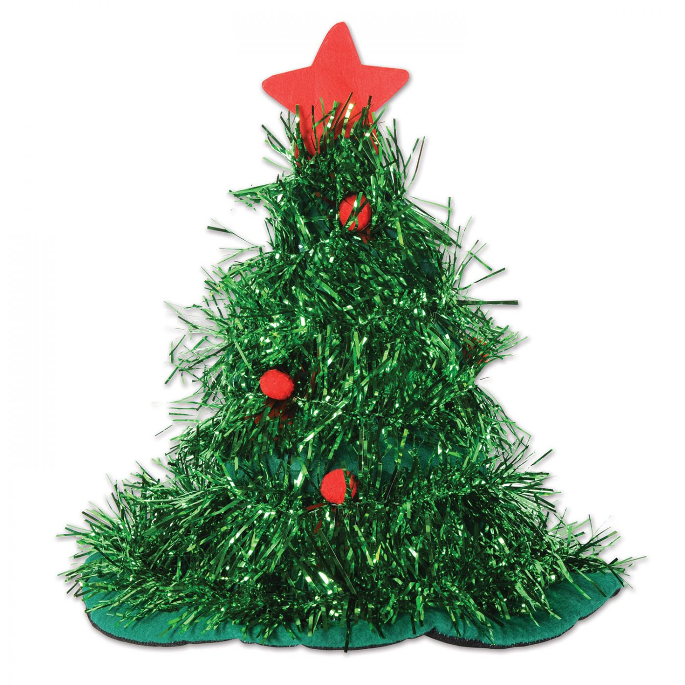 Tinsel Christmas Tree Hat image