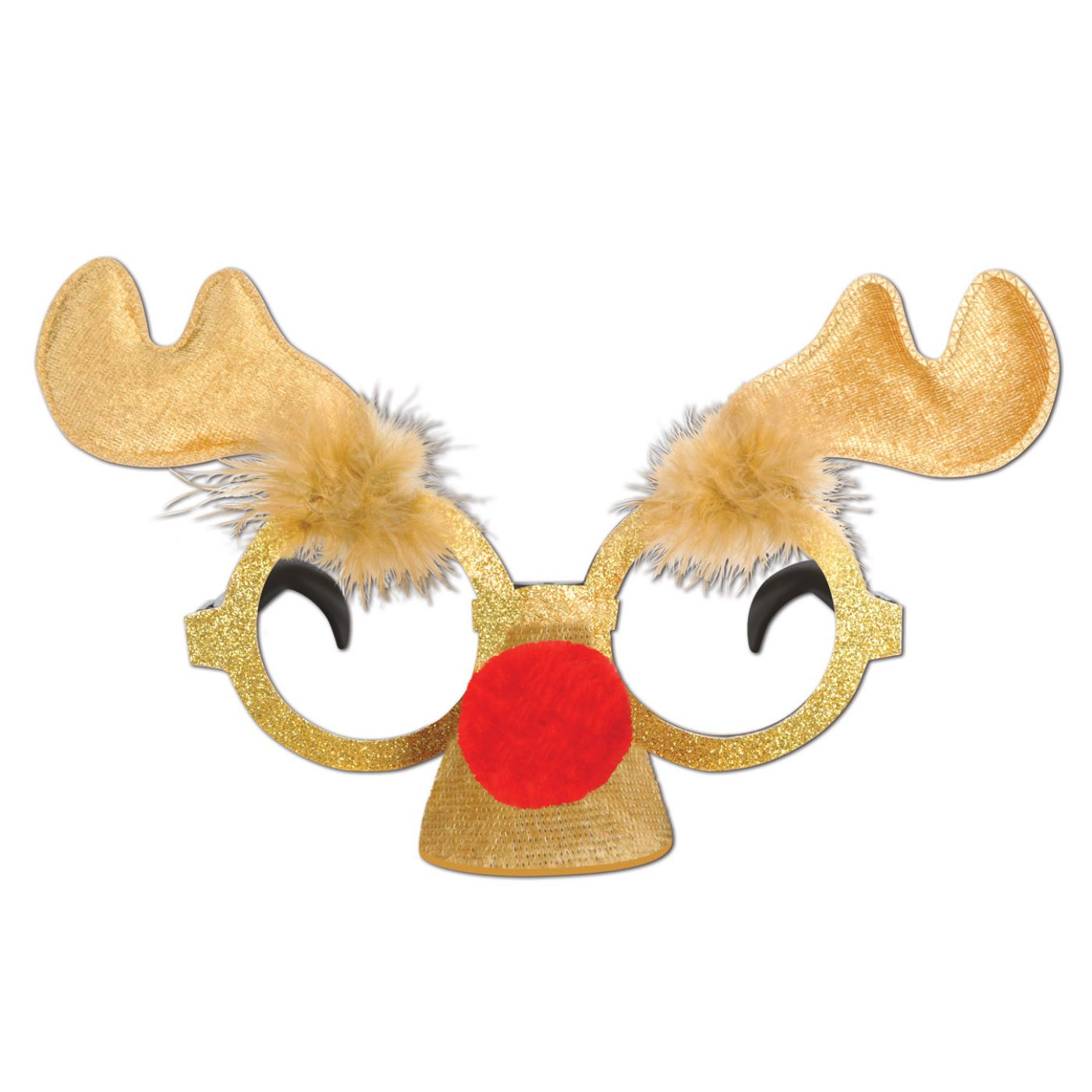 Glittered Reindeer Glasses image