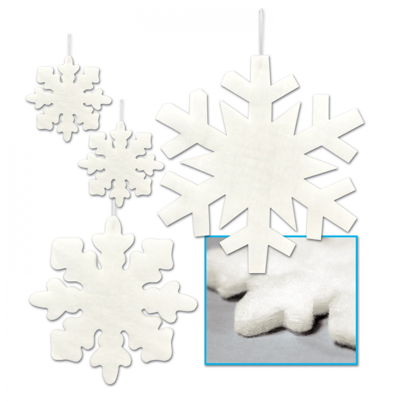 Fluffy Snowflakes image