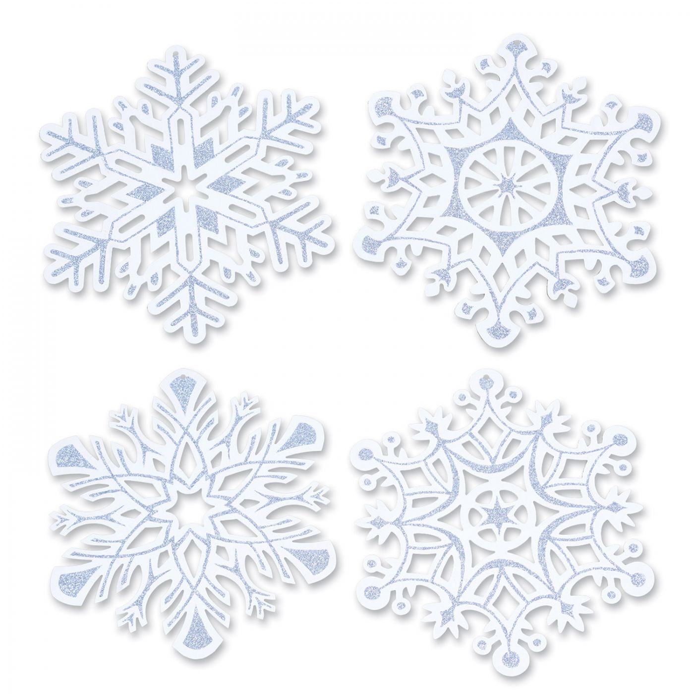 Glittered Snowflake Cutouts (24) image