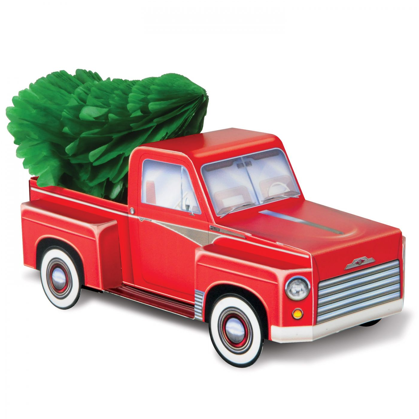Image of 3-D Christmas Truck Centerpiece