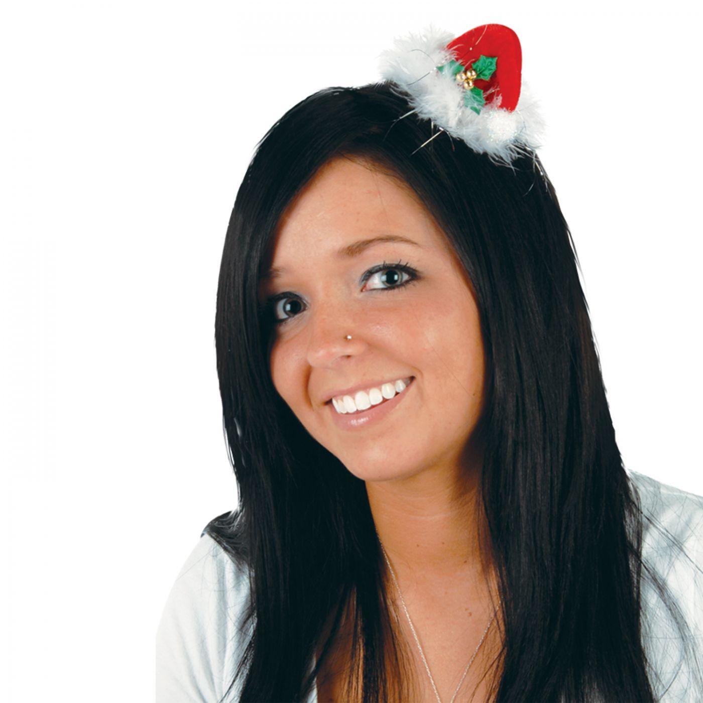 Santa Hat Hair Clip image