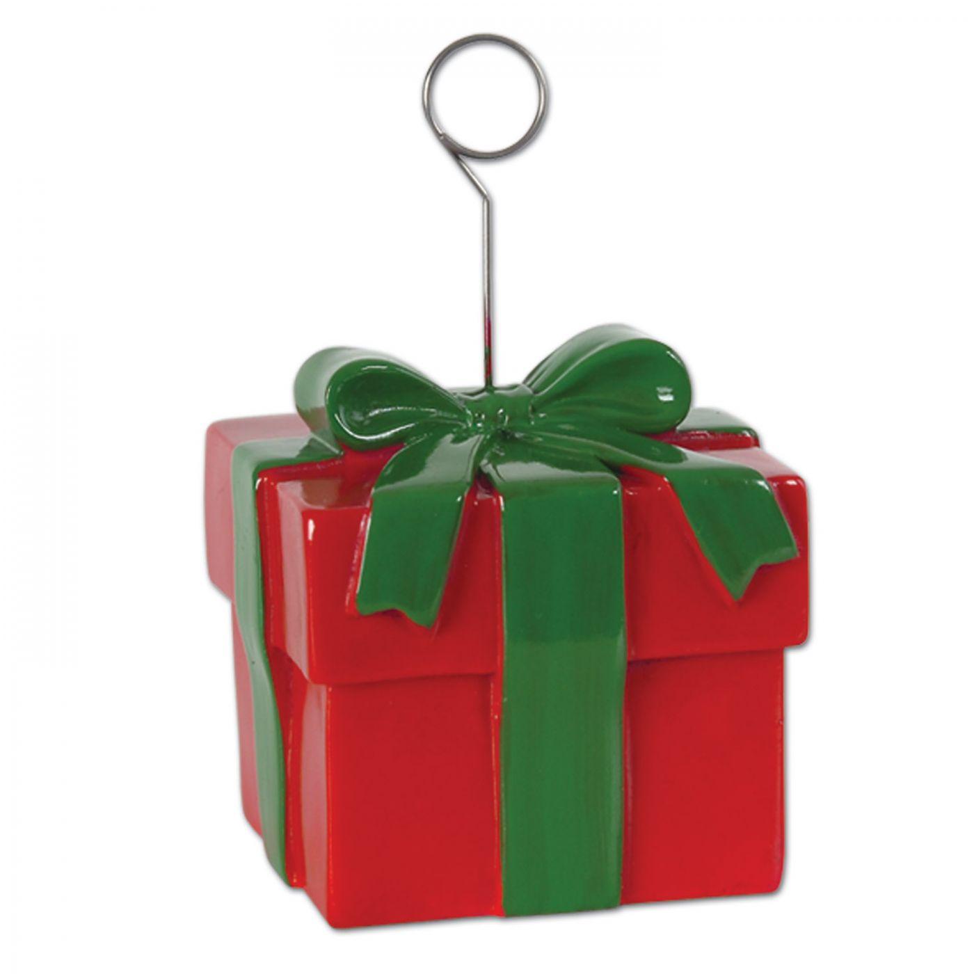 Christmas Gift Box Photo/Balloon Holder (6) image