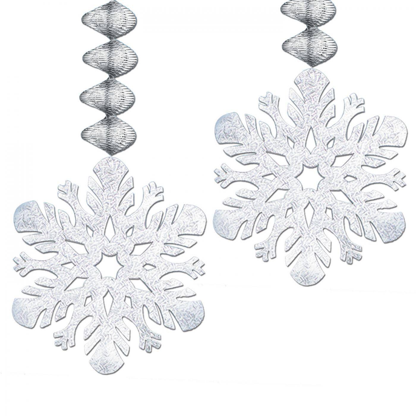 Foil Snowflake Danglers image