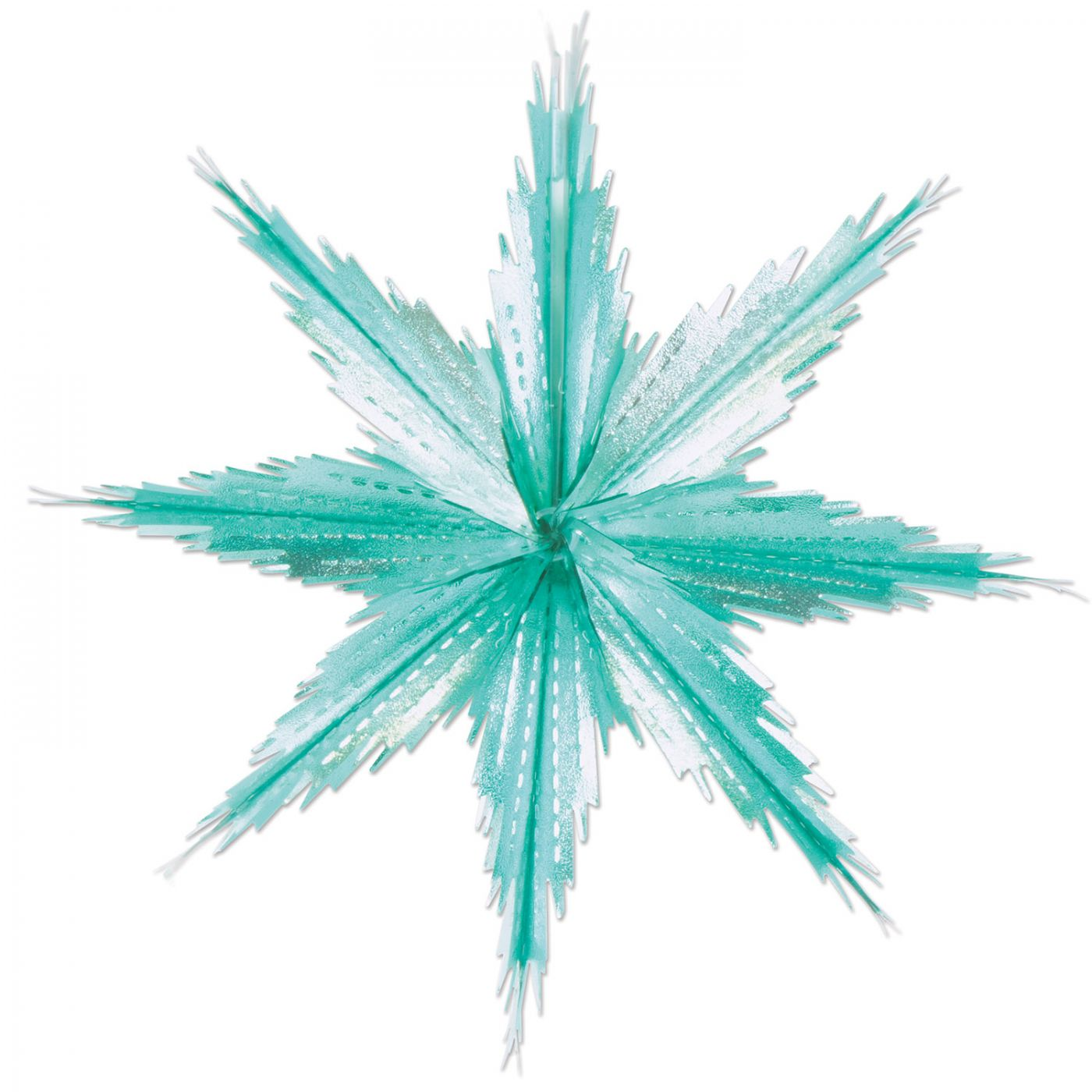2-Tone Metallic Snowflakes image