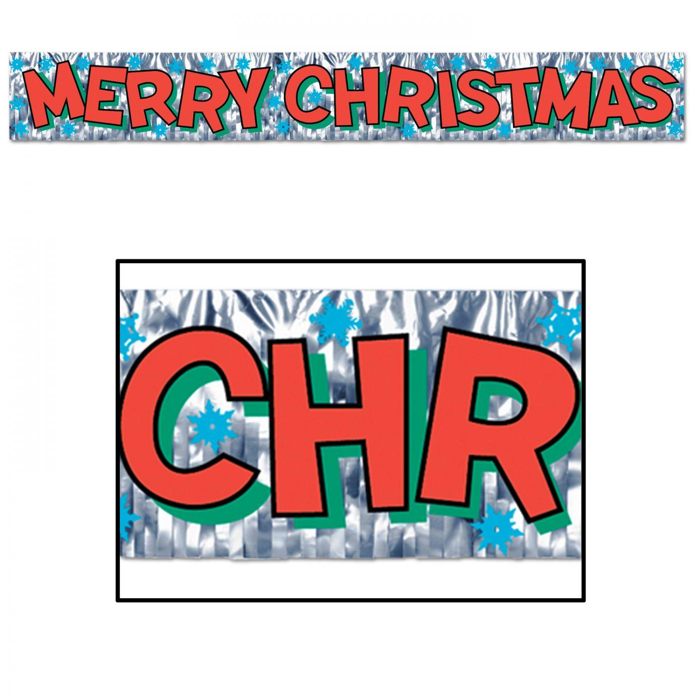 Metallic Merry Christmas Fringe Banner image