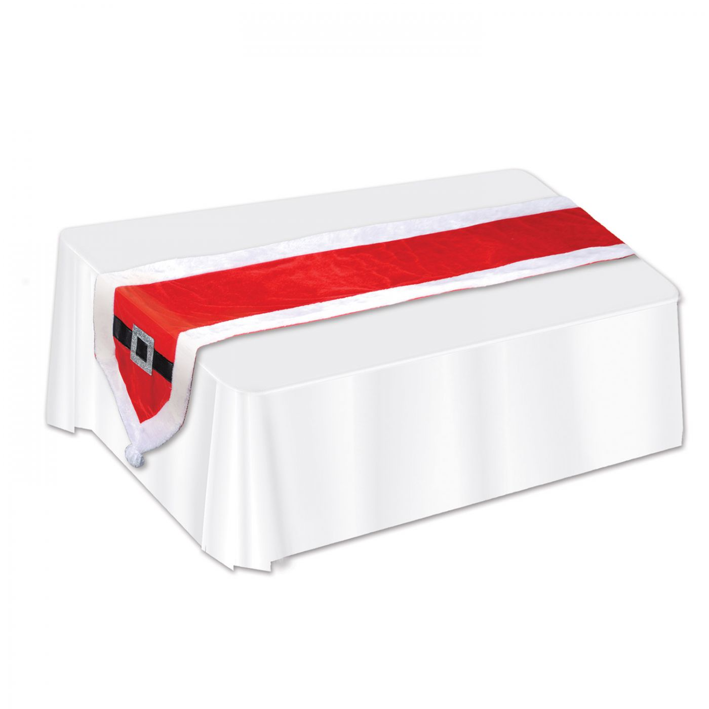 Santa Suit Fabric Table Runner image