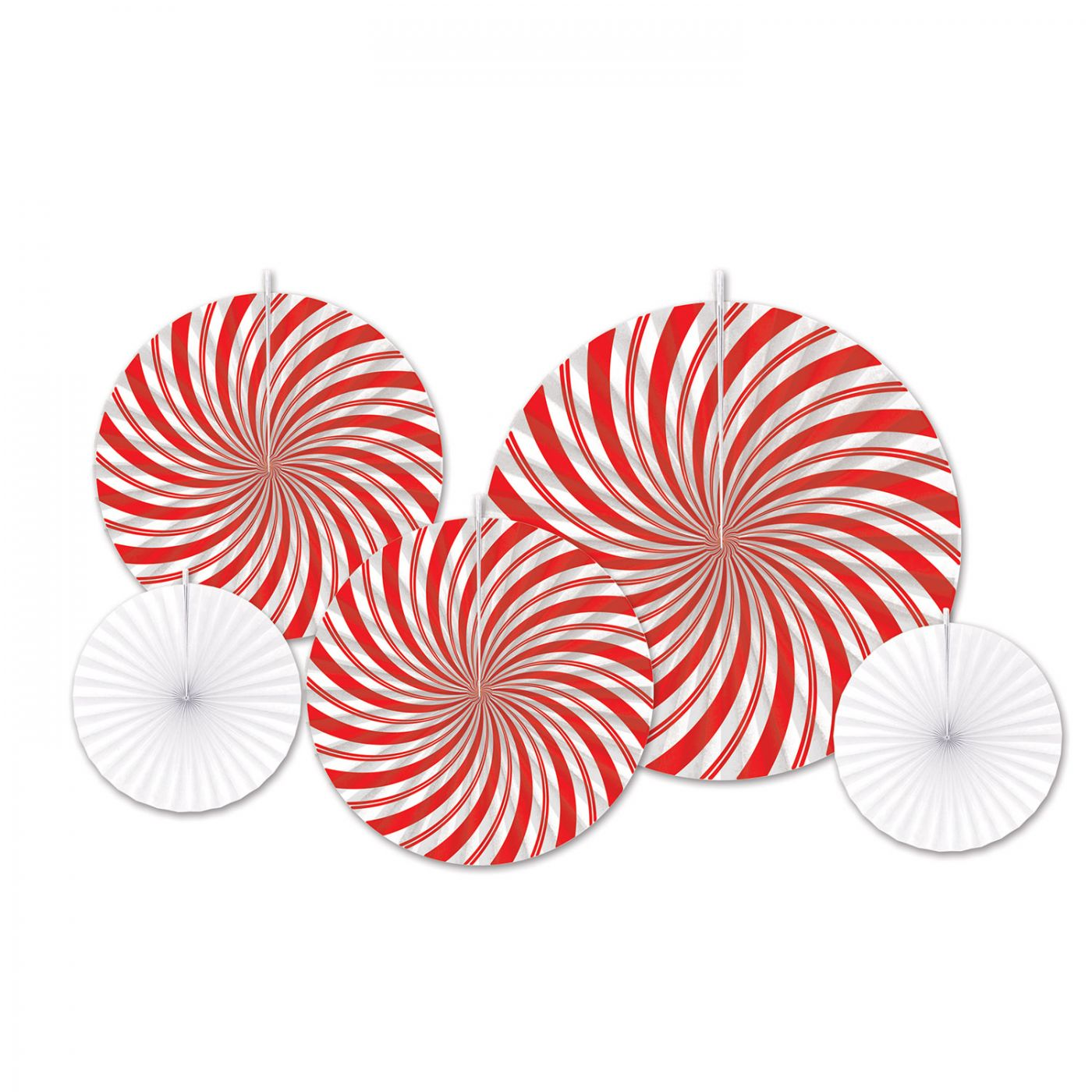 Peppermint Accordion Paper Fans image