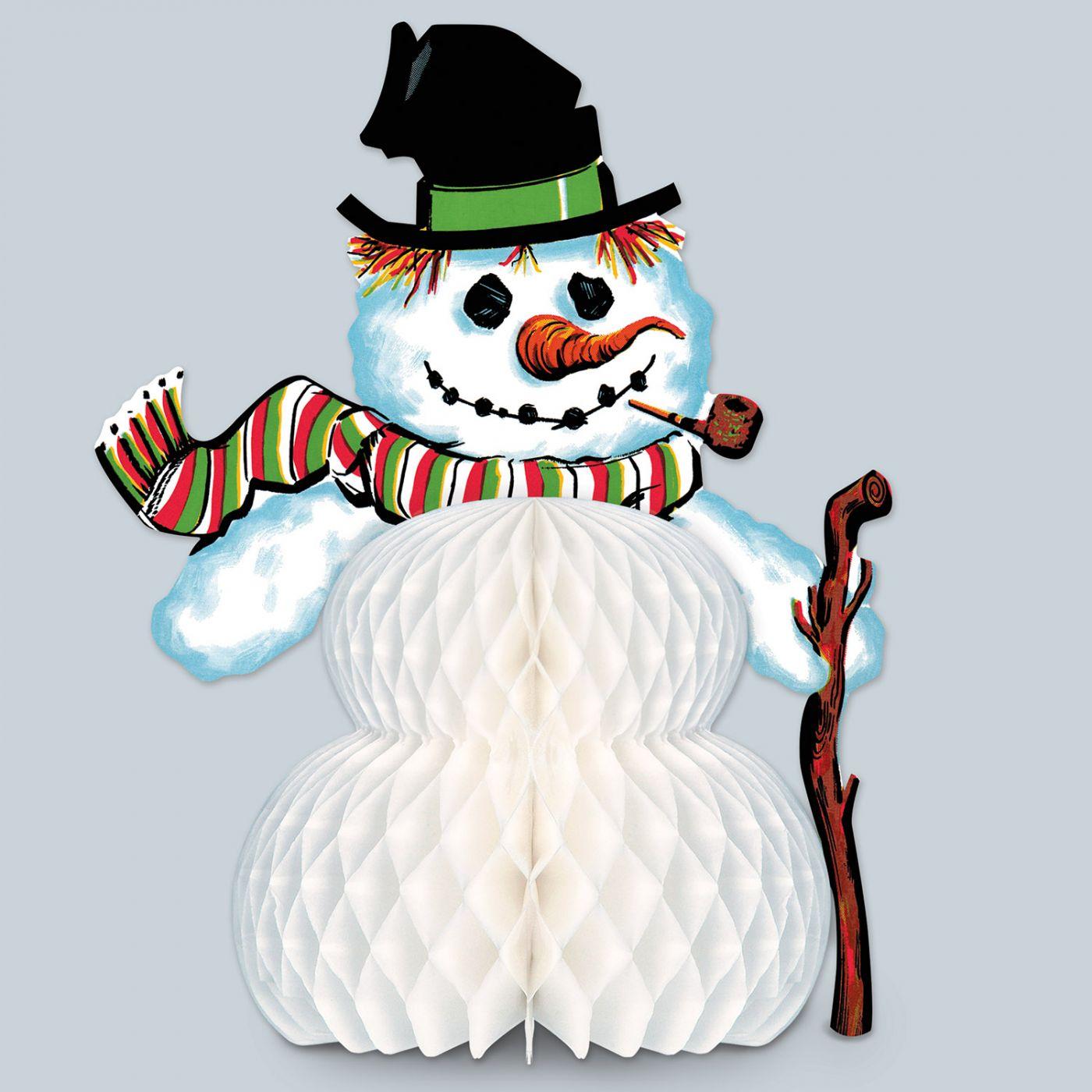 Image of Vintage Christmas Snowman Centerpiece