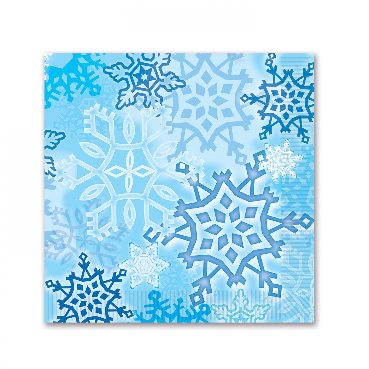 Snowflake Beverage Napkins image