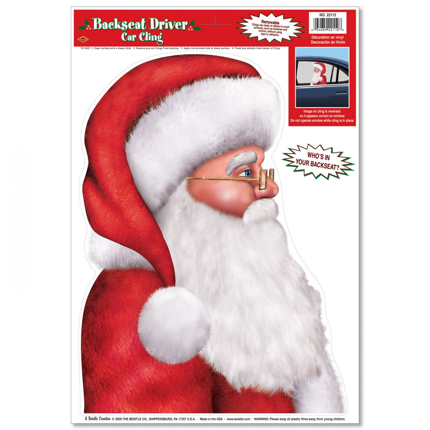 Santa Car Cling image