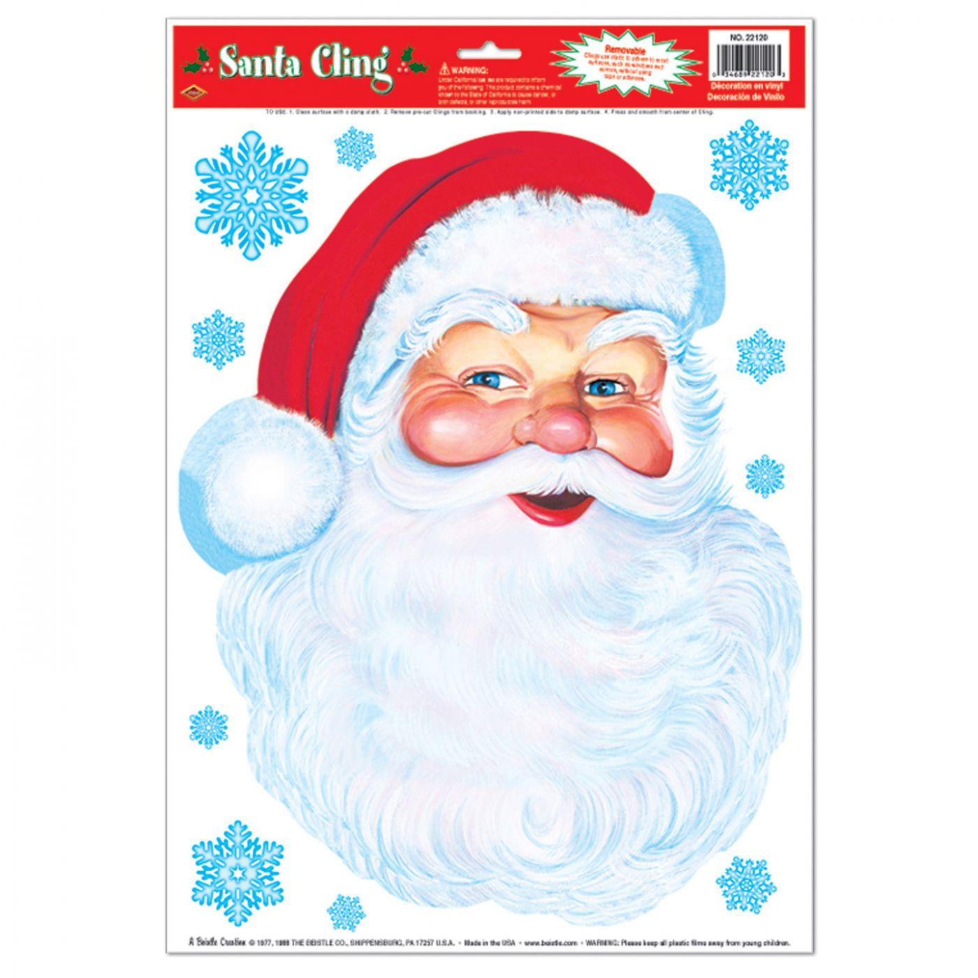 Santa Face Cling image
