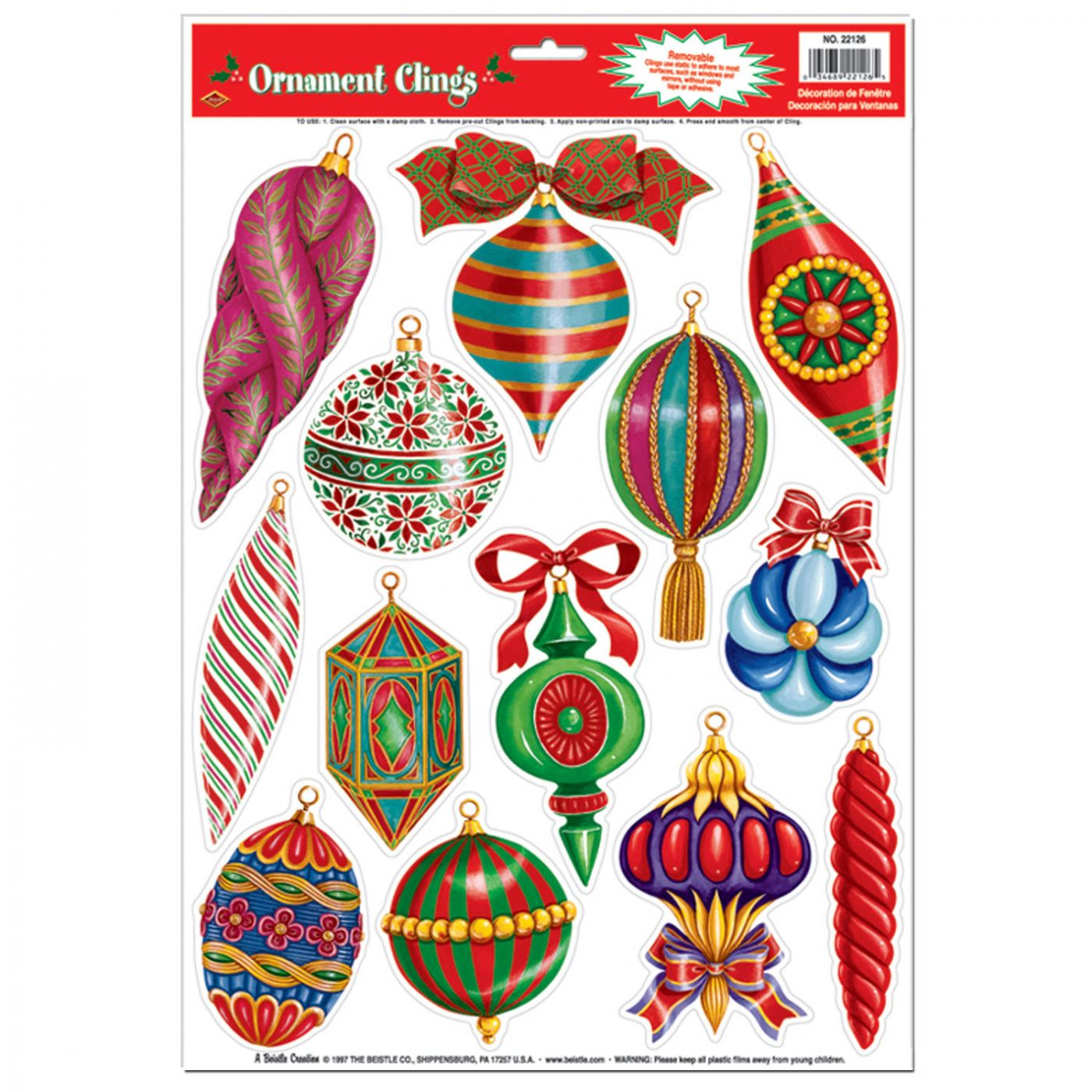 Christmas Ornament Clings image