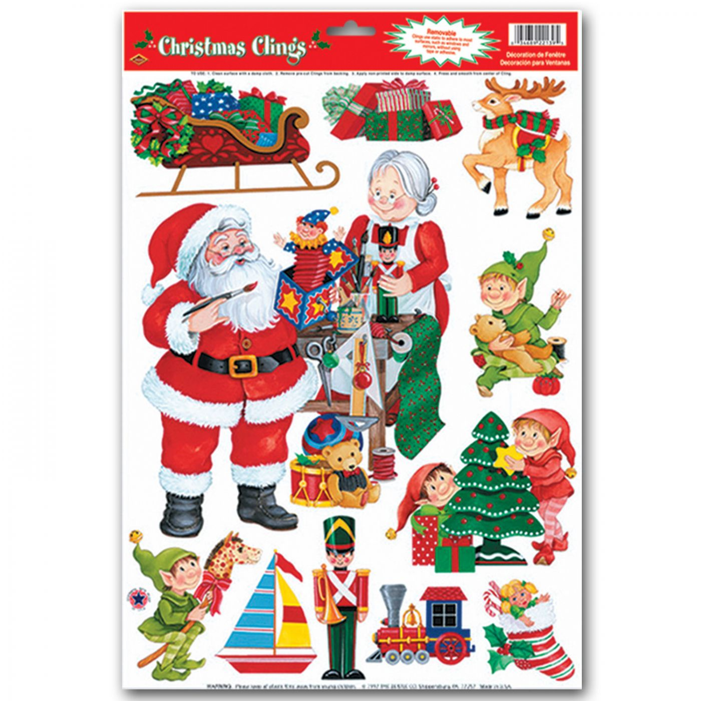 Santa's Workshop Clings image