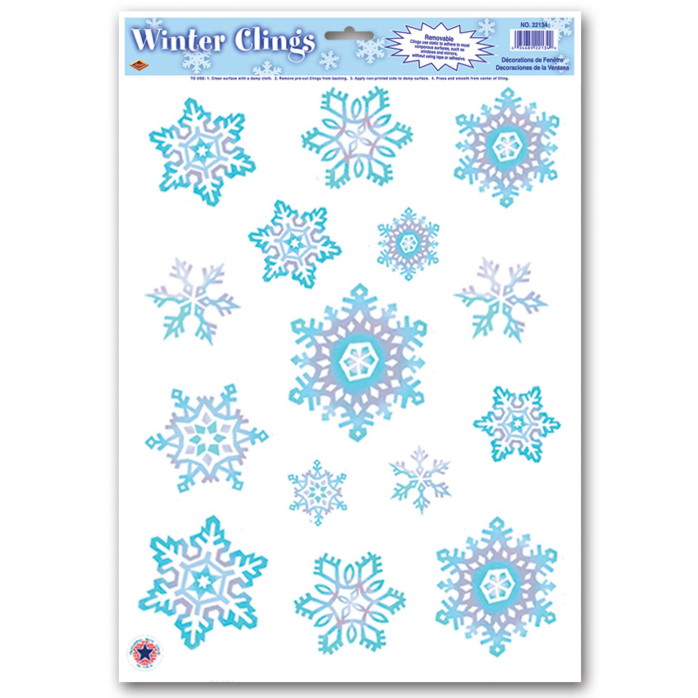 Crystal Snowflake Clings image