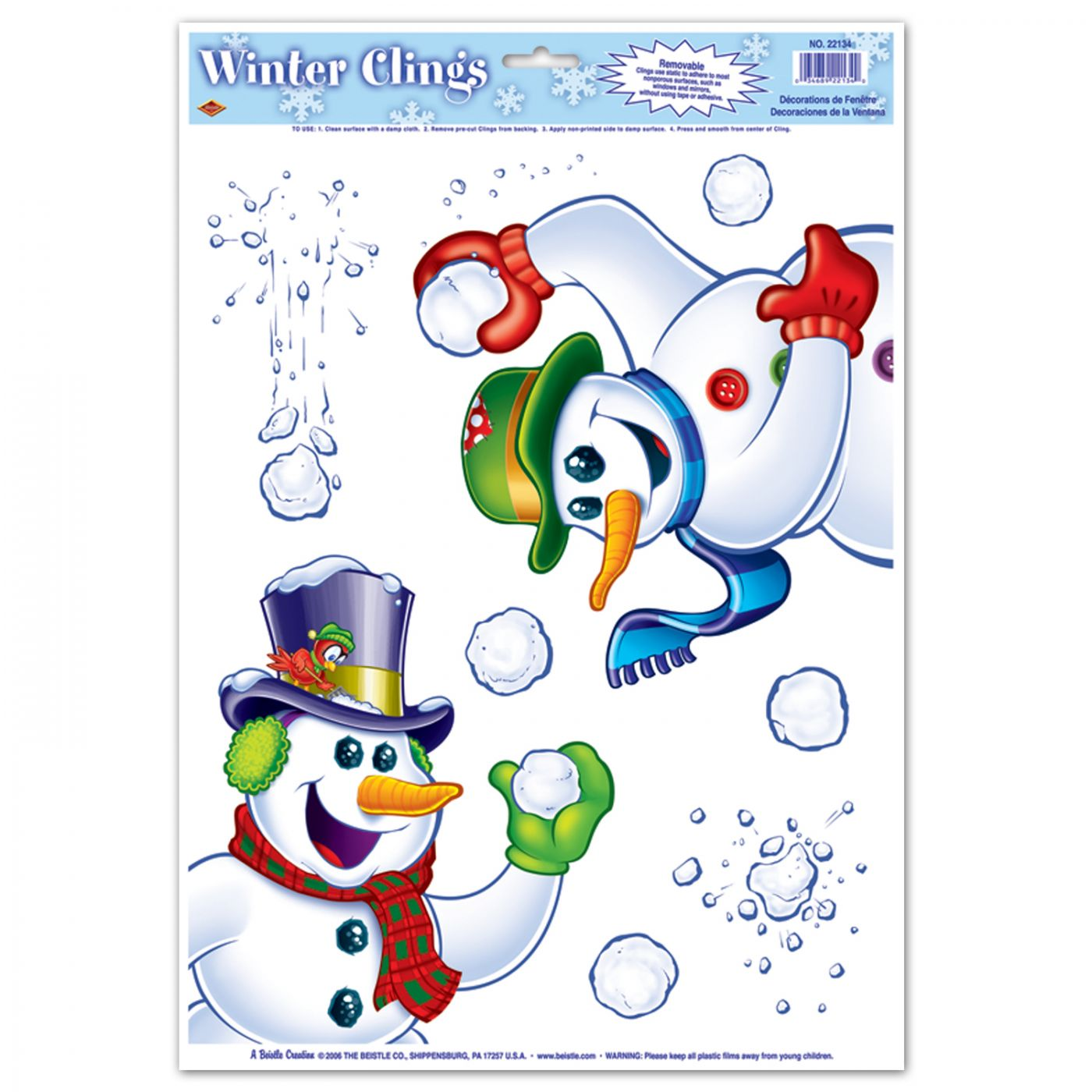 Snowman Clings image