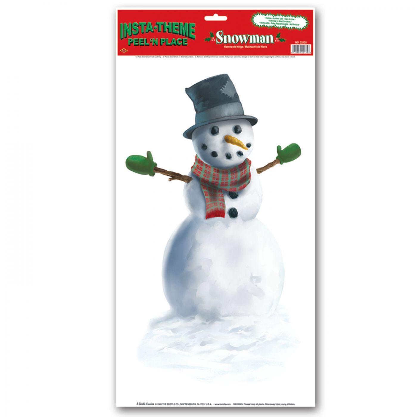 Snowman Peel 'N Place image