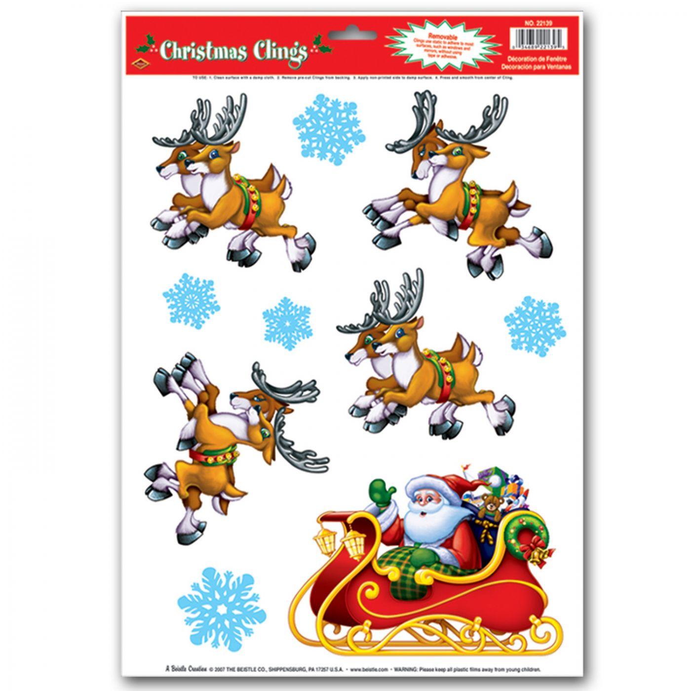 Santa & Sleigh Clings image