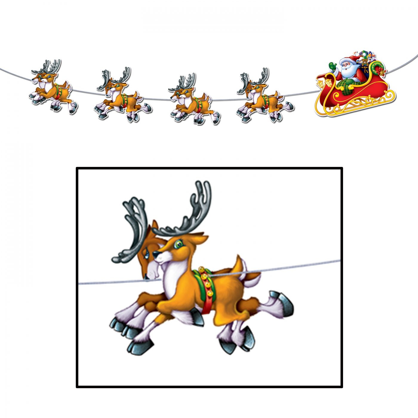 Santa & Sleigh Streamer image