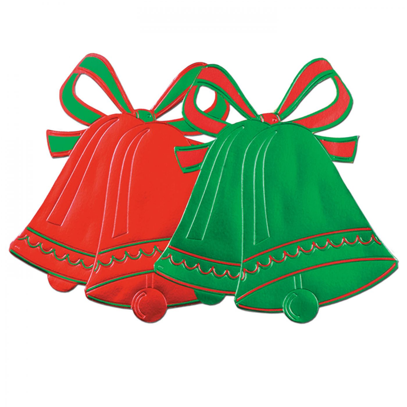 Foil Christmas Bell Silhouettes (24) image