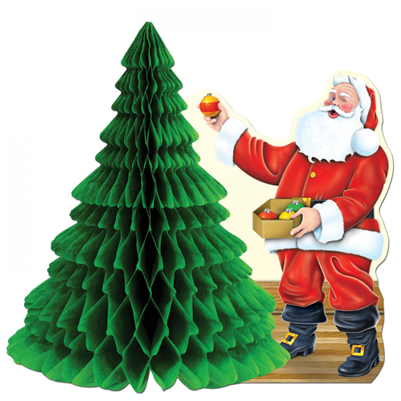 Santa w/Tissue Tree Centerpiece image