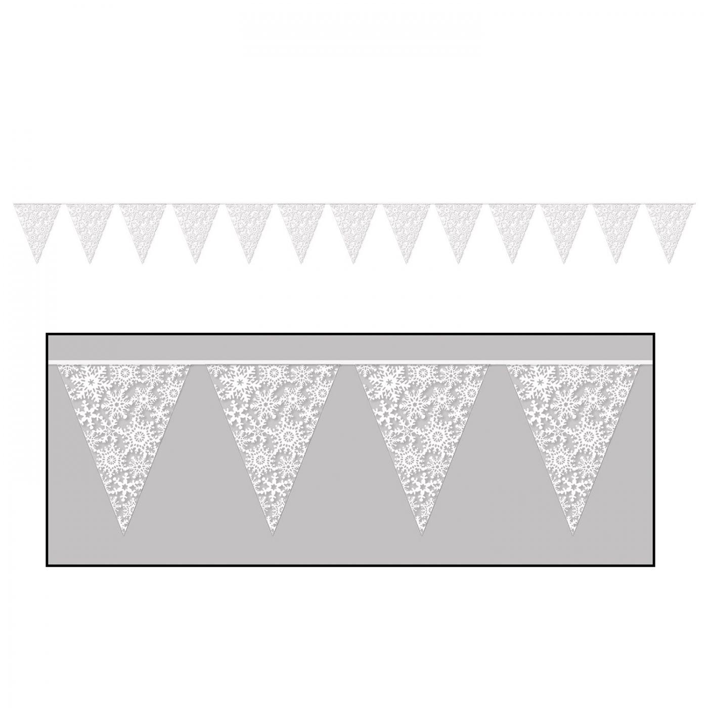 Snowflake Pennant Banner image